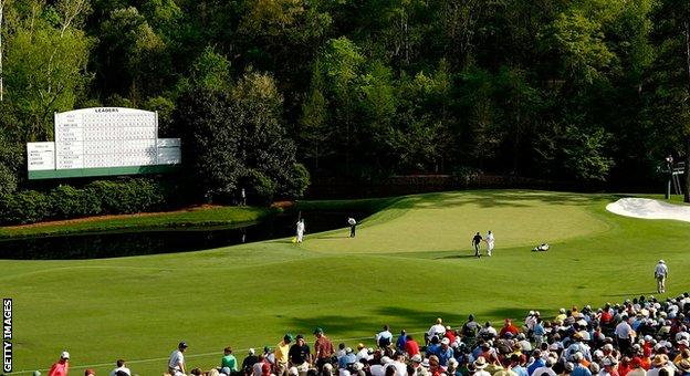 The 11th hole at Augusta