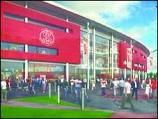 Image of proposed new Saints stadium