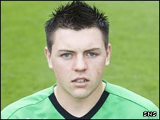 Falkirk goalkeeper Jamie Barclay
