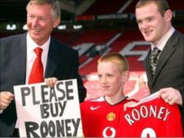 Wayne Rooney with Alex Ferguson