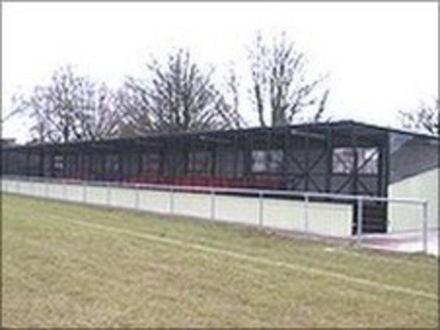 Grandstand at Poole Town's Tatnam Ground