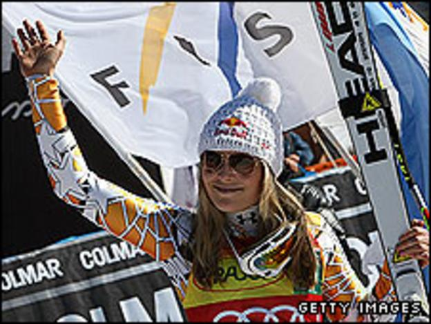 Vonn has won eight races this season, 41 World Cups overall