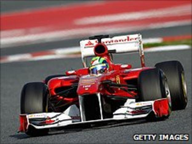 Felipe Massa in the Ferrari 150° Italia