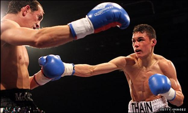 John Thain in action against Kevin McCauley