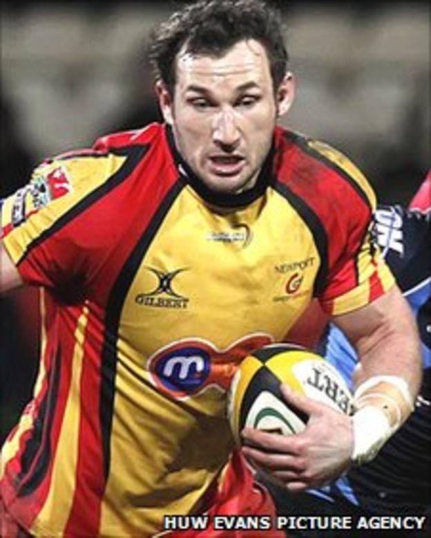Newport Gwent Dragons back-row Joe Bearman