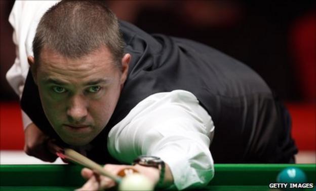 Scottish snooker player Stephen Hendry