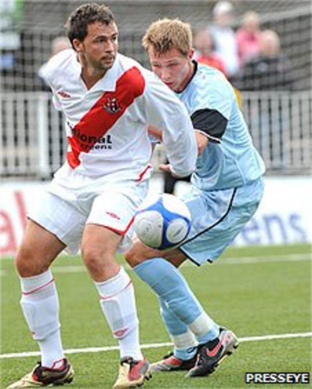 Crusaders striker David Rainey
