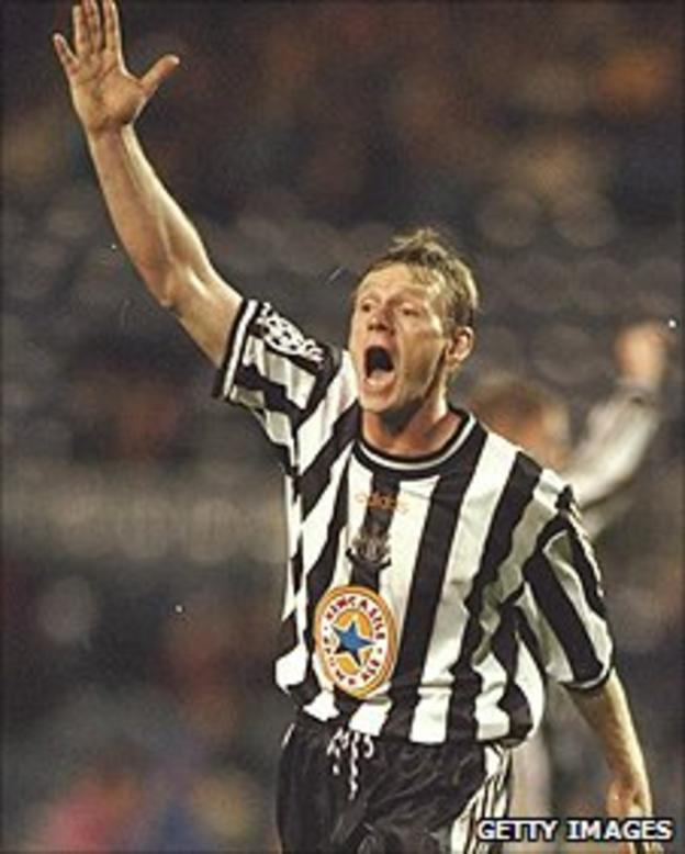 Stuart Pearce playing for Newcastle