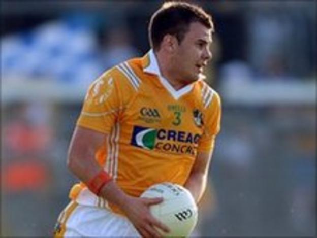 Antrim defender Andy McClean