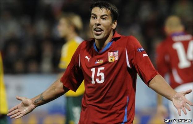 Striker Milan Baros