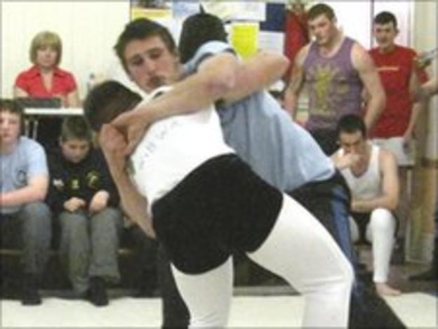 Wrestling at Waberthwaite Academy