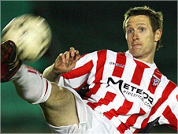 Derry City midfielder Barry Molloy