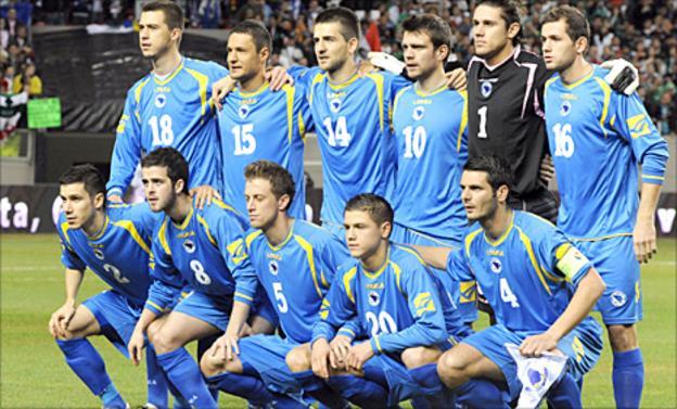 Bosnia pose for a team photo