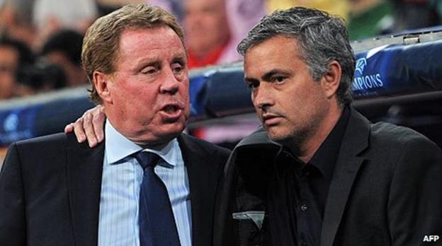 Harry Redknapp and Jose Mourinho