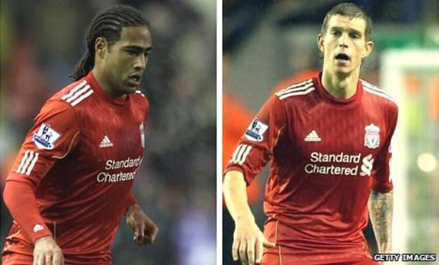 Glen Johnson (left) and Daniel Agger (right)