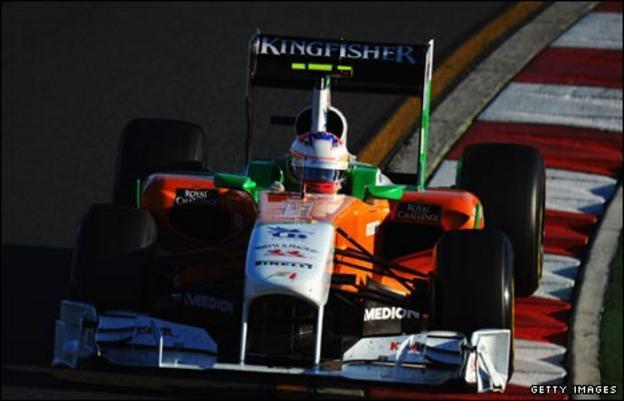Paul di Resta in his Force India car