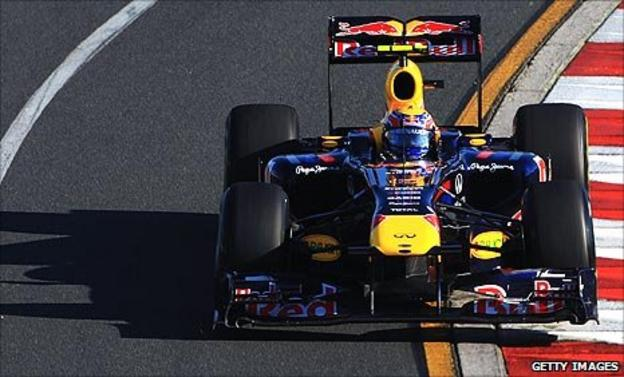 Mark Webber in his Red Bull at the Australian Grand Prix