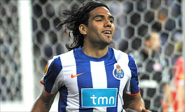 Radamel Falcao celebrates a goal
