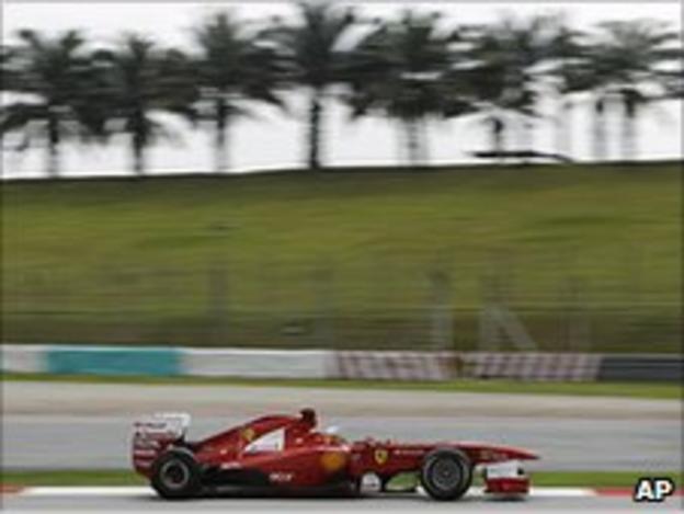 Fernando Alonso's Ferrari at Sepang