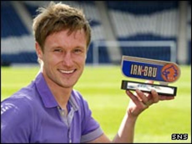 Iain Russell with his Irn Bru award
