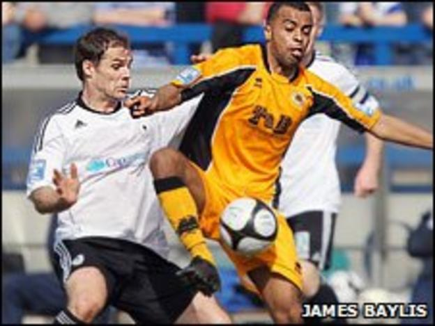 AFC Telford's Stuart Whitehead (left) and Boston's Spencer Weir-Daley