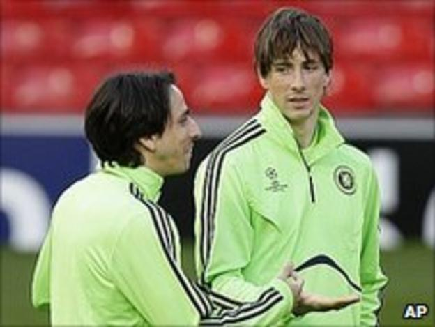Yossi Benayoun and Fernando Torres