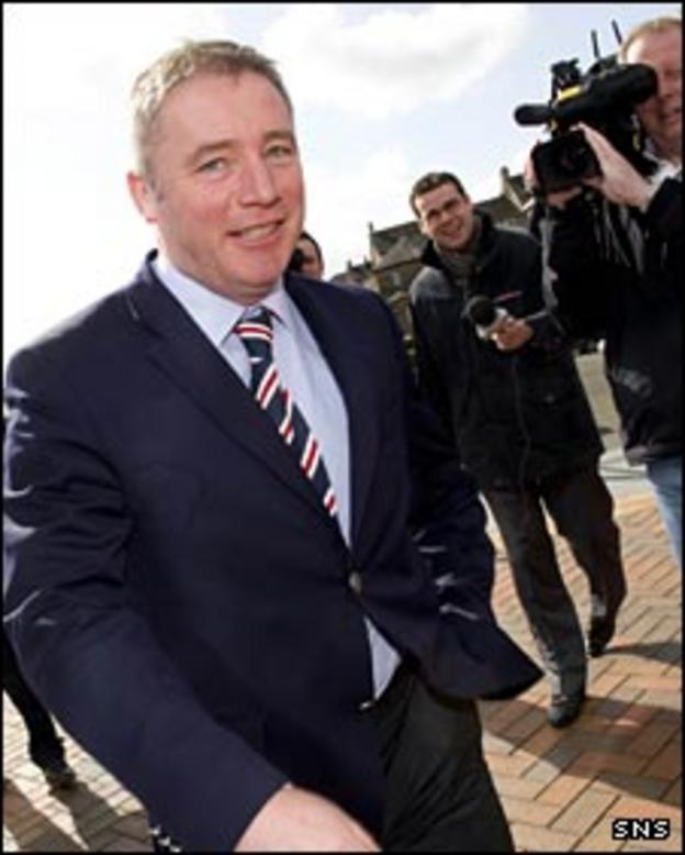 Rangers assistant Ally McCoist is all smiles