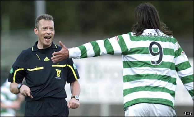Iain Brines rejects Georgios Samaras's penalty claim
