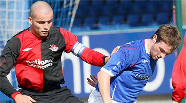 Colin Coates of Crusaders and Linfield's Jamie Mulgrew will be suspended