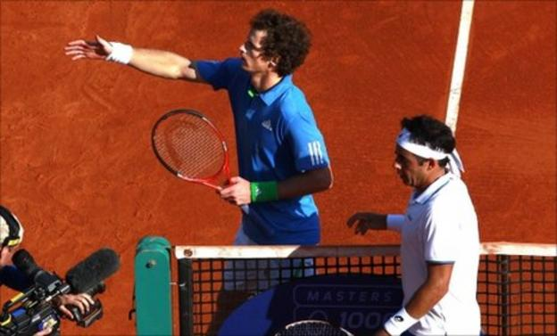 Andy Murray and Frederico Gil