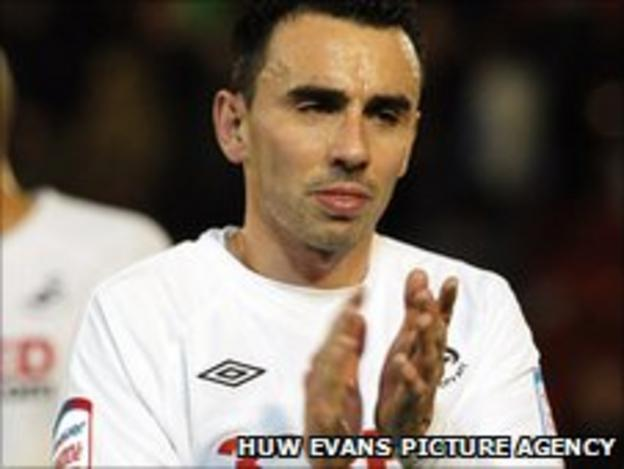 Swansea City's Leon Britton