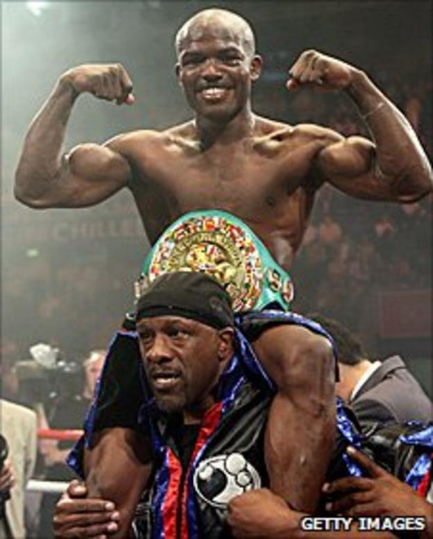 Timothy Bradley with his WBC title