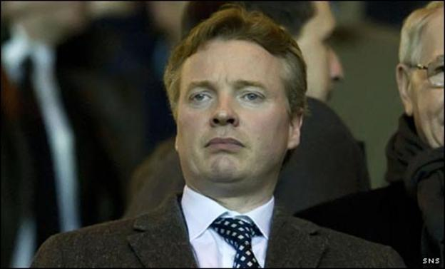 Craig Whyte in the Ibrox stand