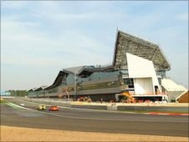 The new Silverstone pit and paddock nearing its completion in March 2011