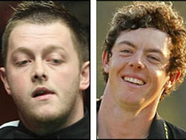 Mark Allen and Rory McIlroy