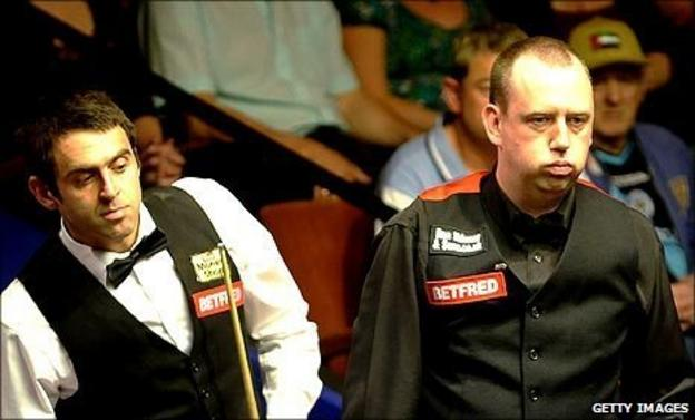 Ronnie O'Sullivan and Mark Williams