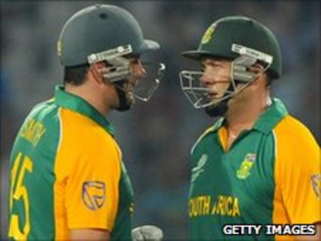 South Africa batsmen Graeme Smith and Jacques Kallis