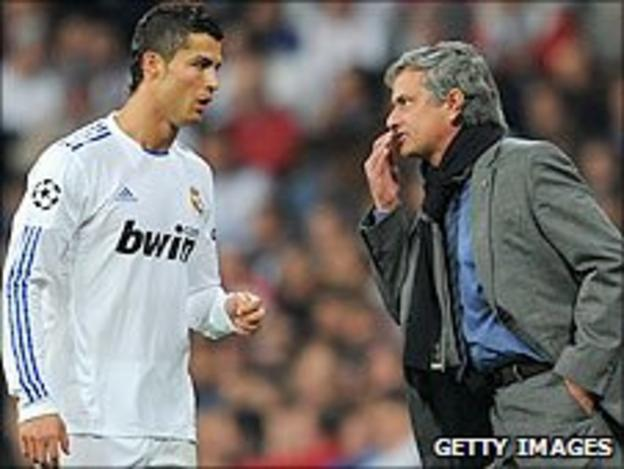 Ronaldo and Jose Mourinho