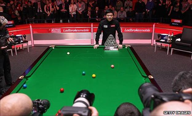 Ding Junhui wins the Masters