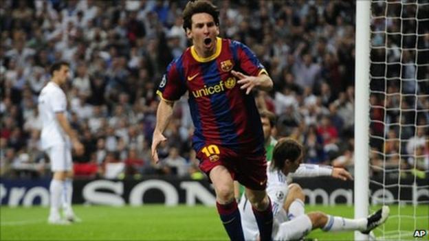 Barcelona goalscorer Lionel Messi