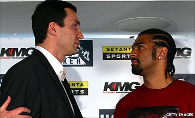 Wladimir Klitschko and David Haye in 2009