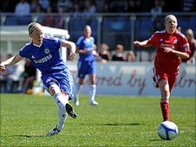 Dani Buet of Chelsea scores the opening goal