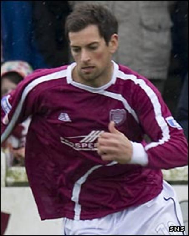 Arbroath midfielder Gavin Swanke