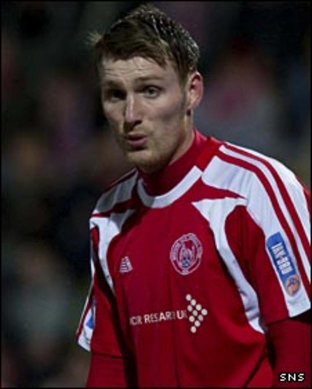 Brechin striker Rory McAllister