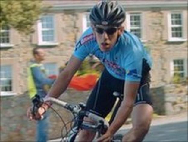 Philip Touzeau cycling