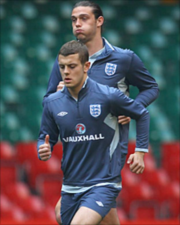 Andy Carroll and Jack Wilshere