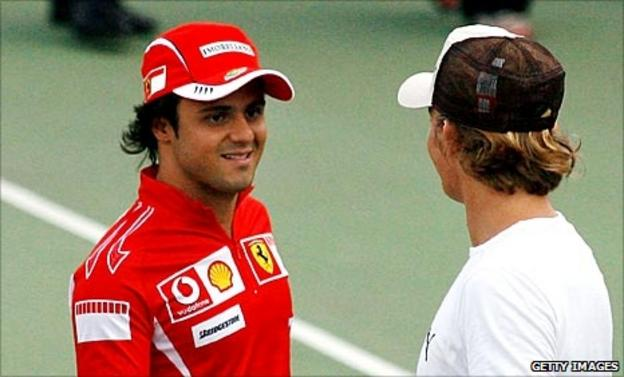 Felipe Massa and Nico Rosberg