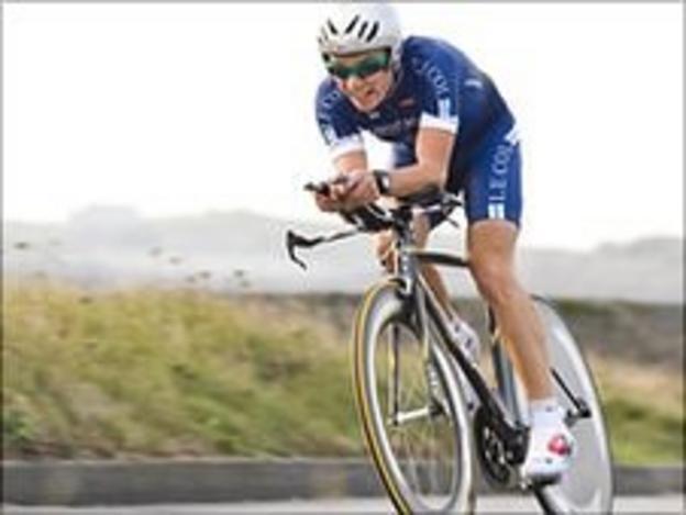Cyclist James McLaughlin Pic: Mike Brehaut