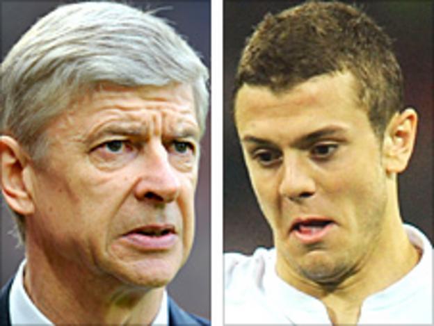 Arsene Wenger and Jack Wilshere