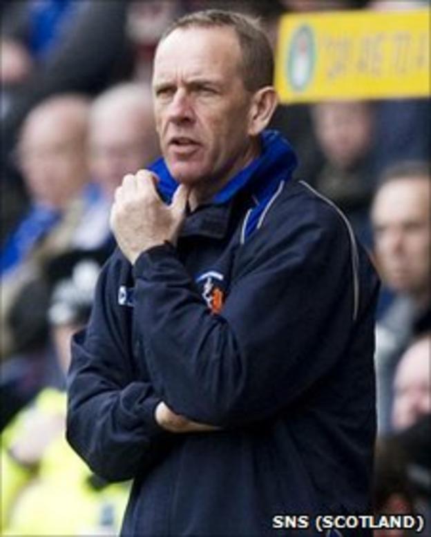 Kilmarnock caretaker boss Kenny Shiels